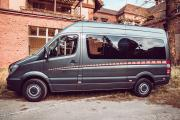 Tourbus Mercedes Sprinter , 9 seats, dividing wall between driving, seating and cargo area, Band Van, Hamburg, Berlin